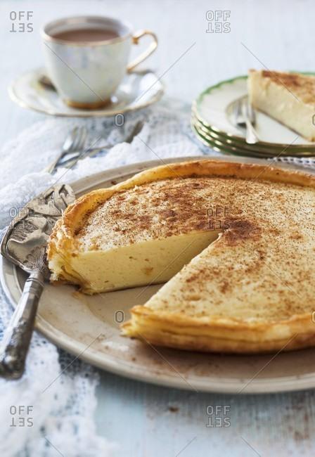 Melktert (South African milk tart)