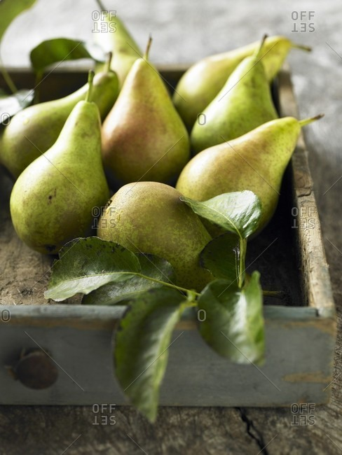 Pears in a drawer
