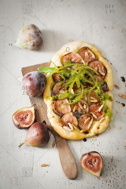 Fig focaccia and fresh figs