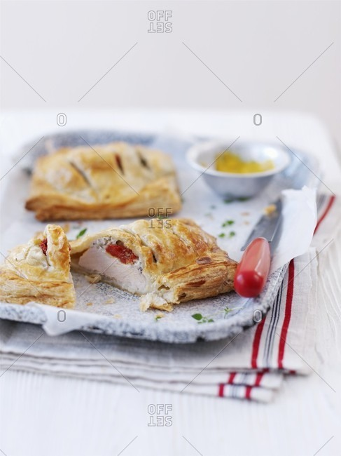 Turkey breast wrapped in puff pastry