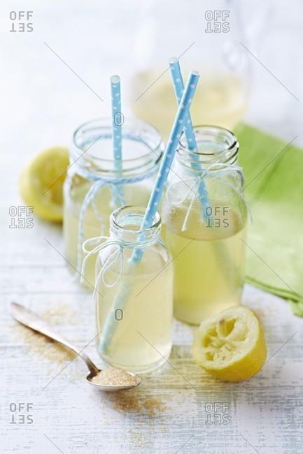 Fresh lemonade with brown sugar
