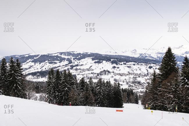 Ski slope in the French Alps