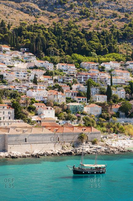 Dubrovnik, Croatia - July 28, 2017: Boat on the Adriatic