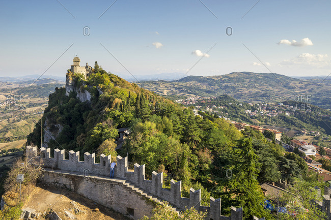 San Marino, Italy - August 12, 2017: Seconda Torre also known as La fratta or La Cesta