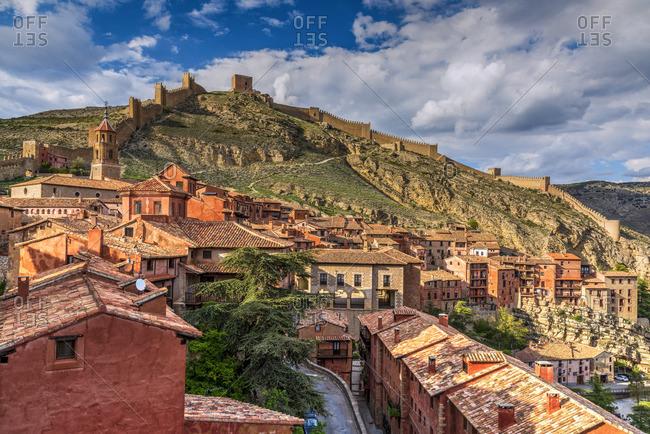 Albarracin, Aragon, Spain - May 16, 2018: City walls