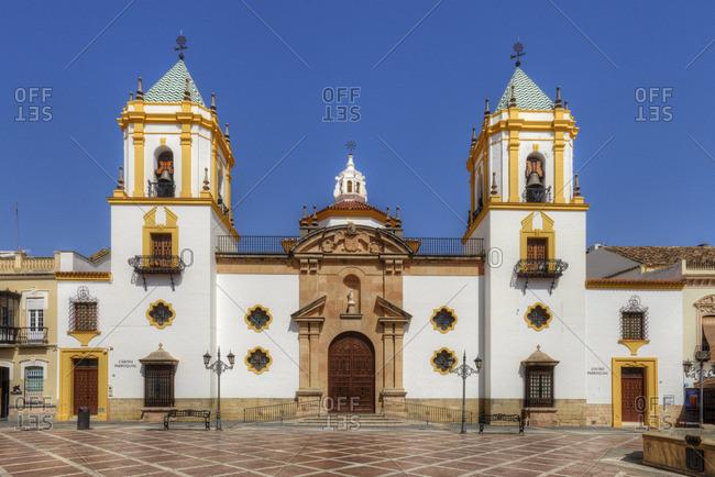 Andalucia, Spain - September 4, 2016: The Socorro Church in Ronda at Plaza del Socorro