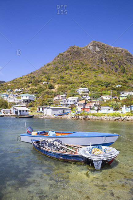 Ashton, Union Island, St. Vincent and the Grenadines - February 14, 2018: Fishing boat