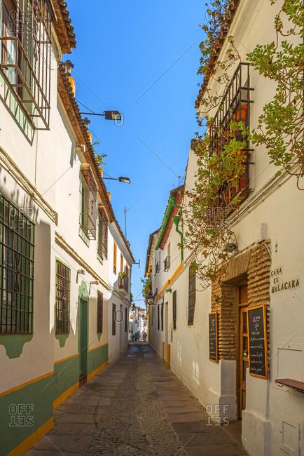 Cordoba, Andalucia - September 8, 2016: Alley