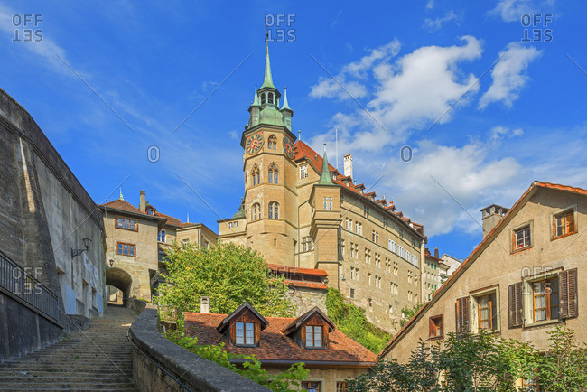 Fribourg, Switzerland - September 5, 2017: Town hall
