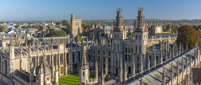 Oxford, England - October 27, 2017: Oxfordshire, Oxford, University of Oxford, All Souls College