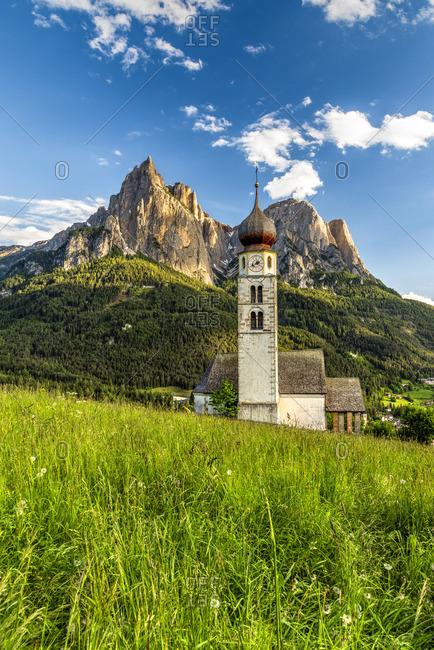 St. Valentin church, Castelrotto - Kastelruth, Trentino Alto Adige - South Tyrol, Italy