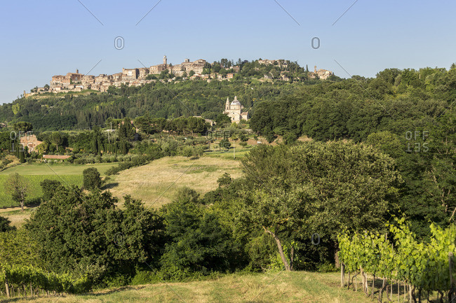 Italy. Tuscany. Siena district Val di Chiana. Montepulciano. Church of Madonna di San Biagio