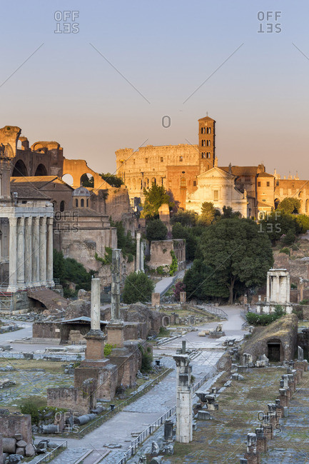 Italy, Latium, Lazio. Rome, Roma. The Roman Forum