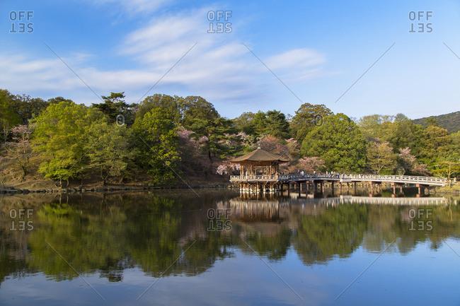 Ukimido pavilion in Nara Park, Nara, Kansai, Japan