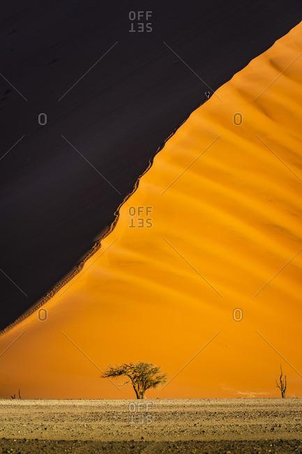 Sossusvlei, Namib-Naukluft National Park, Namibia, Africa. Giant sand dunes