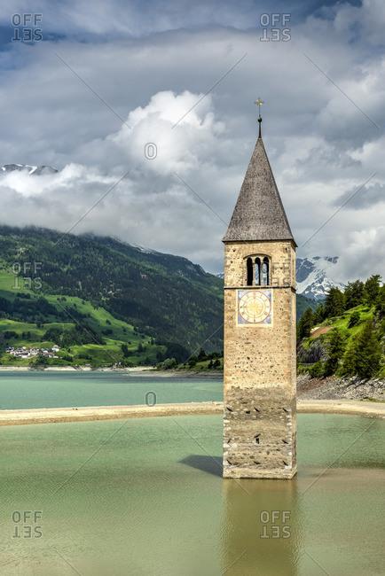 Old village of Curon Venosta - Graun im Vinschgau, Trentino Alto Adige - South Tyrol, Italy