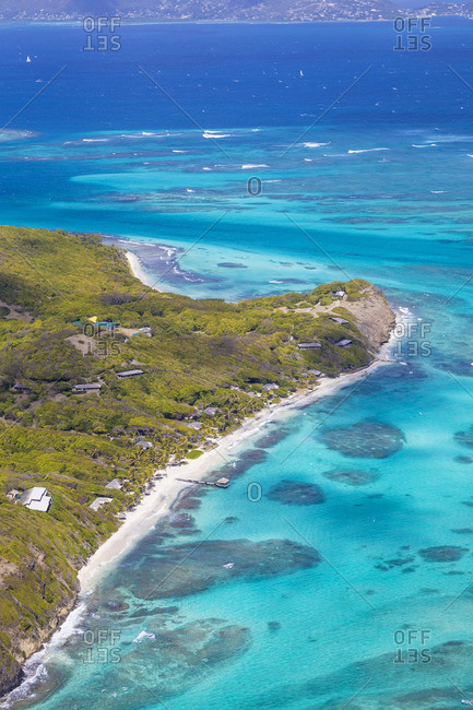 St Vincent and The Grenadines, Aerial view  of Petit St Vincent