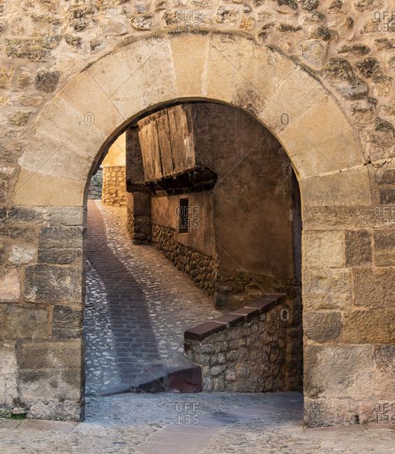 Picturesque corner of Albarracin, Aragon, Spain