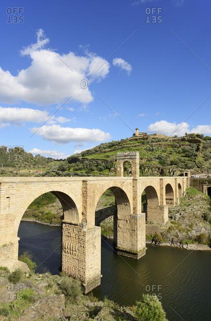 The roman bridge of Alcantara (Trajan's Bridge), built over the Tagus river at Alcantara, Extremadura, Spain