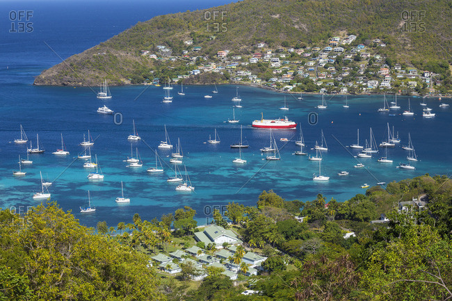 St Vincent and The Grenadines, Bequia, View of Admiralty Bay