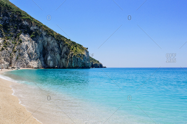 Ionian Sea with bathers