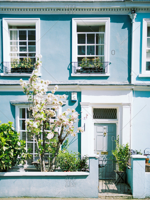 Blue house exterior - Offset Collection