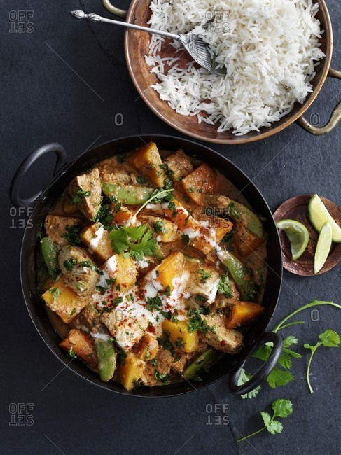 Turkey curry with rice (Asia)