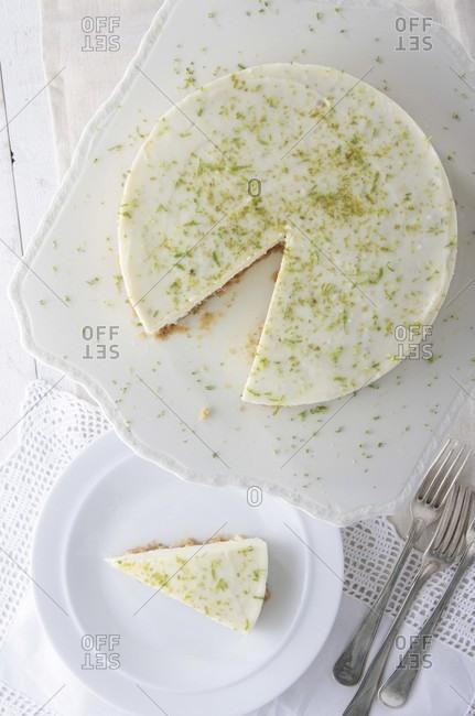 Key Lime Pie, sliced