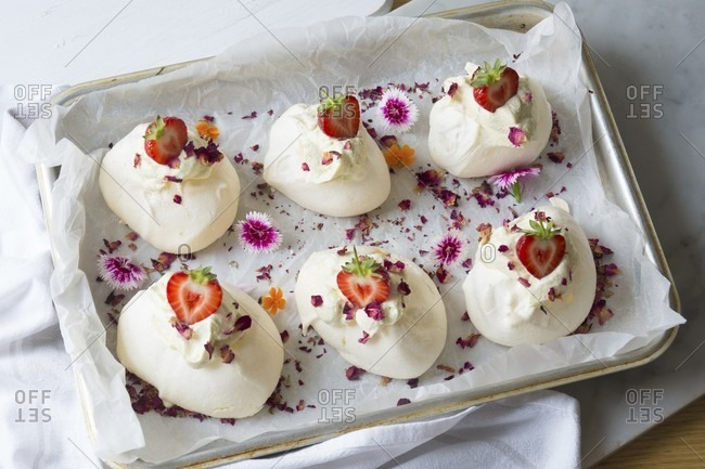Strawberry Pavlova from the Offset Collection