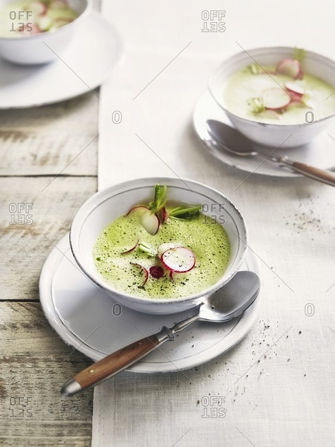 Foamy radish soup - Offset Collection