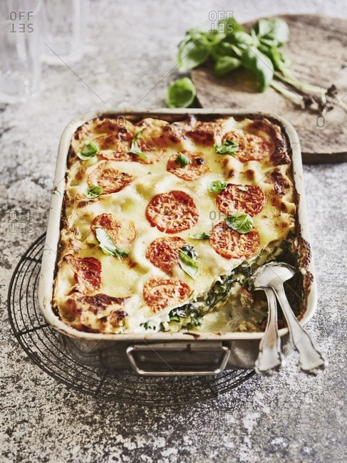 Chard lasagne with ricotta - Offset