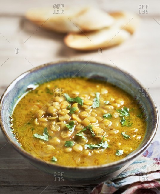 Indian dhal with coriander - Offset