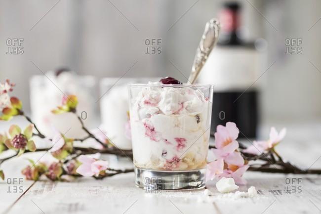 Eton Mess with cherries - Offset