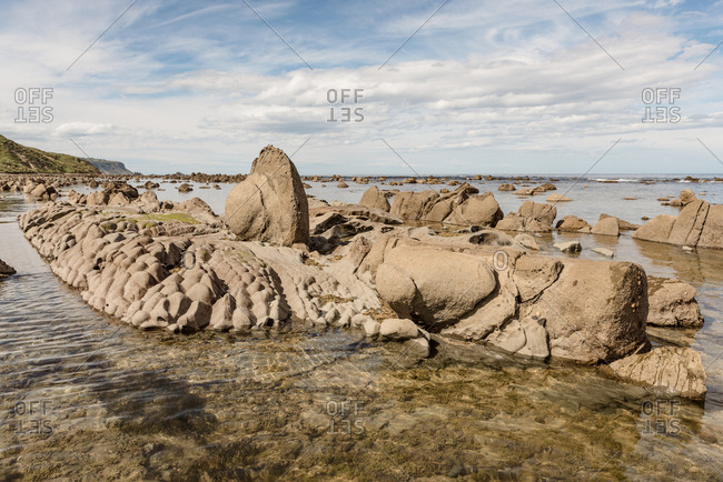 Rock formations on the coast of Hawke's Bay, New Zealand