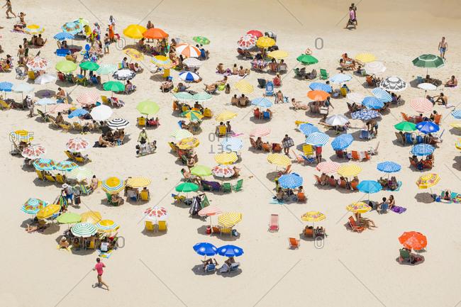 January 30, 2016: Ipanema Beach, Rio de Janeiro, Brazil, South America