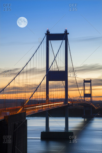 Old (First) Severn Bridge, Avon, England, United Kingdom, Europe