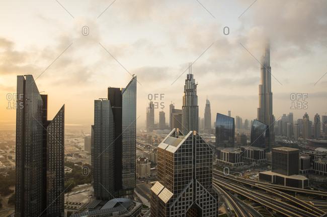 February 26, 2016: Burj Khalifa, Dubai, United Arab Emirates, Middle East
