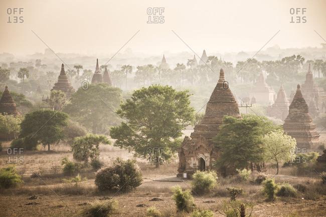 Sunrise at the Temples of Bagan (Pagan), Myanmar (Burma), Asia