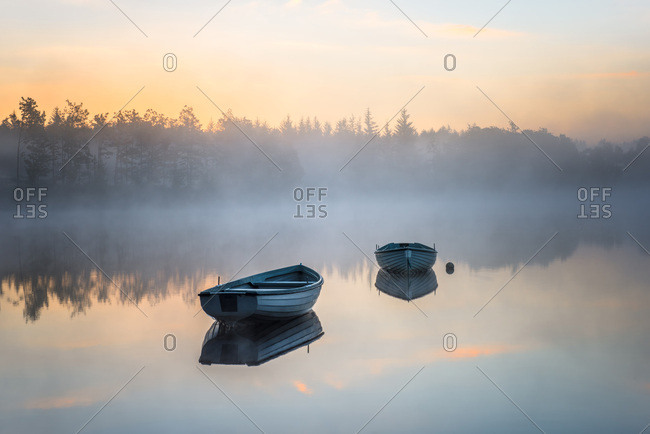 Loch Rusky, Perthshire, Scotland, United Kingdom, Europe
