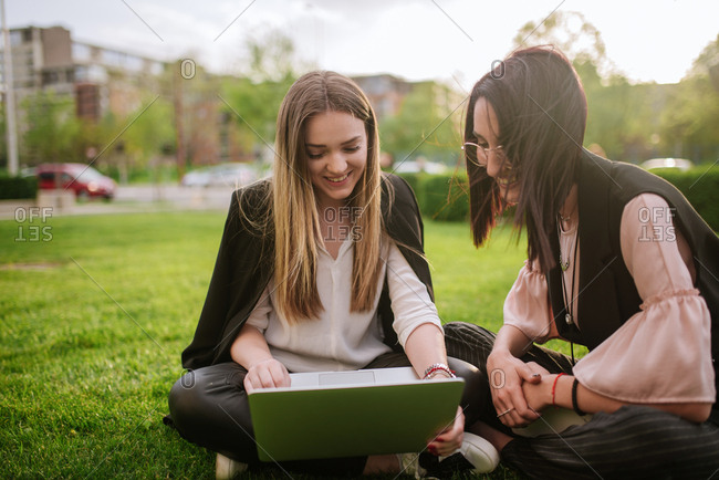 Two young business woman on a meeting