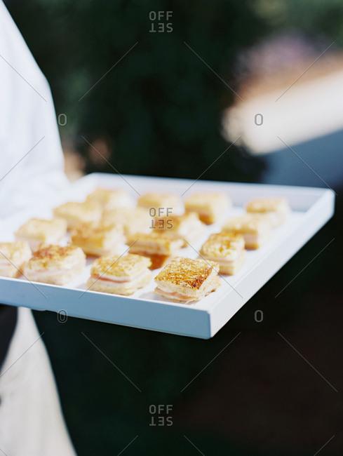 Snacks at a wedding reception