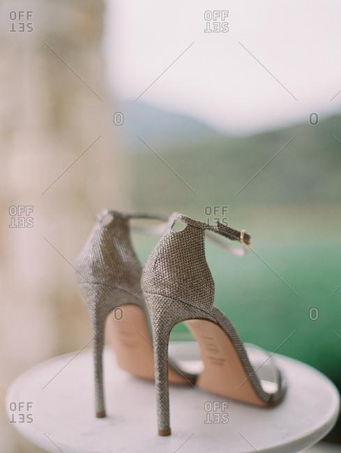 Bride's stiletto  heels