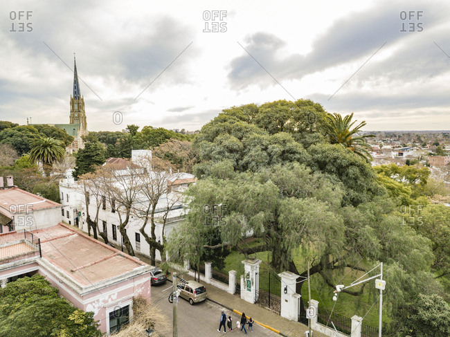 Aerial view of the historic quarter in Buenos Aires, Argentina