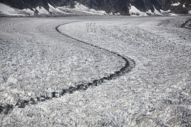 USA, Alaska, Denali National Park, glacier tongue