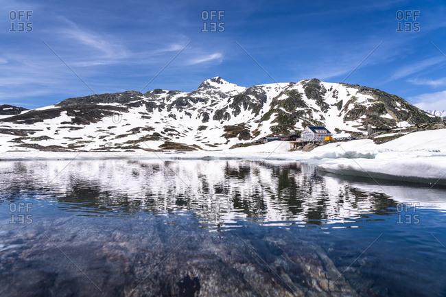 Switzerland, Valais, Bernese Alps, Lake Toten