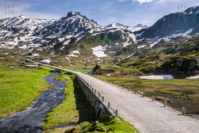 Switzerland, Canton of Uri, Tremola, Gotthard Pass