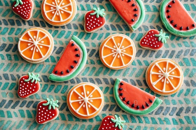 Fruit shaped cookies