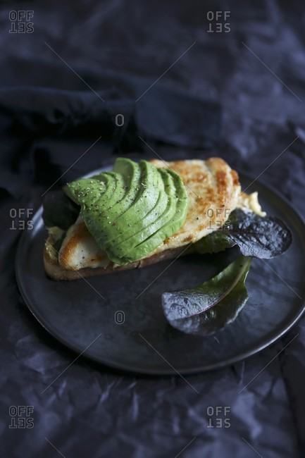A chicken breast and avocado sandwich