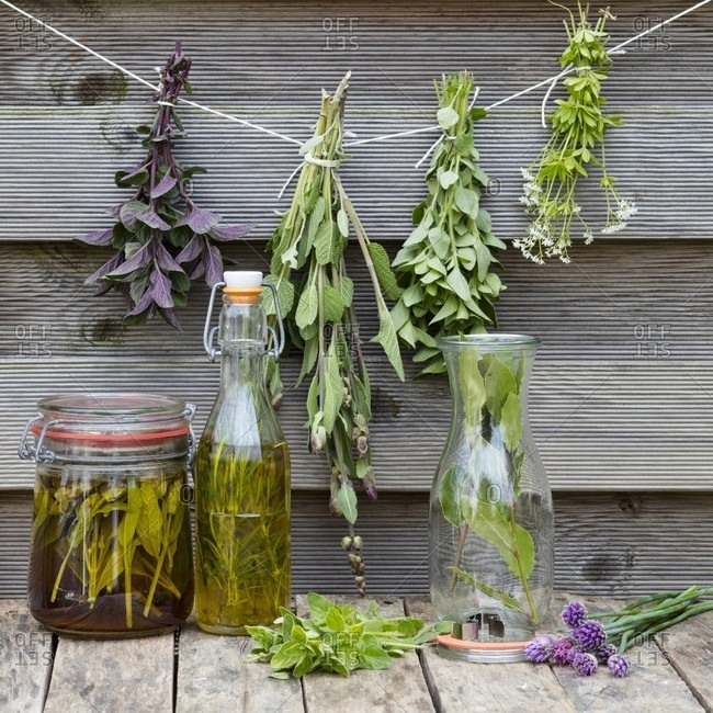 Homemade herbal oils