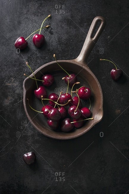 fresh cherries stock photos - OFFSET